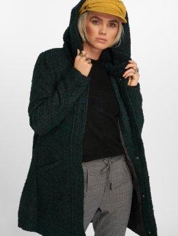 JACQUELINE de YONG Płaszcze jdyDemea Hooded Boucle zielony