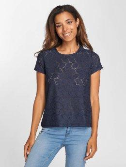 JACQUELINE de YONG t-shirt jdyTag Lace blauw