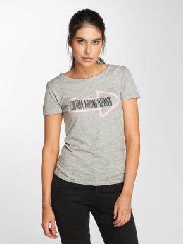 JACQUELINE de YONG t-shirt jdyRainbow grijs