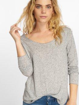 JACQUELINE de YONG T-Shirt manches longues jdyLinette gris