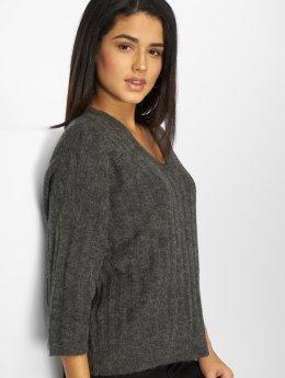 JACQUELINE de YONG T-Shirt manches longues jdySeven Knit gris