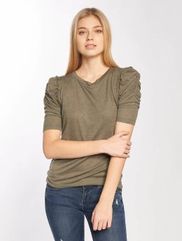 JACQUELINE de YONG T-Shirt manches longues jdyFanny 2/4 Puff Sleeve olive