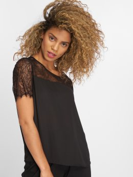 JACQUELINE de YONG t-shirt jdyFiona Lace zwart