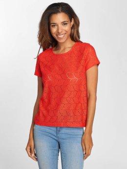JACQUELINE de YONG T-Shirty jdyTag Lace czerwony