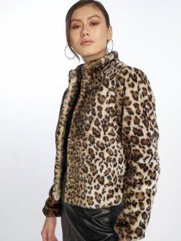JACQUELINE de YONG Frauen Übergangsjacke jdyFrodo Leo Short Fake Fur in braun