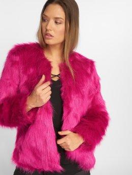 JACQUELINE de YONG Übergangsjacke jdyFenya Fake Fur pink