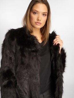 JACQUELINE de YONG Veste mi-saison légère jdyFenya Fake Fur noir