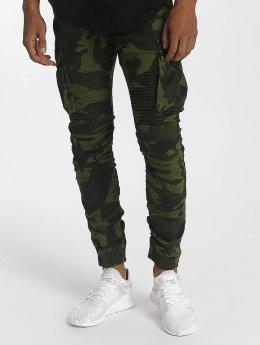 John H joggingbroek Lime camouflage