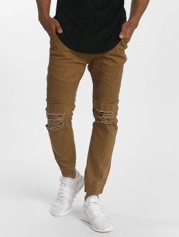John H Destroyed Sweat Pants Camel