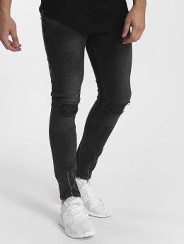 John H Skinny Jeans Destroyed grau