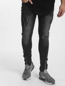 John H Slim Fit Jeans Zipper schwarz