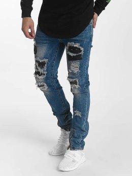 John H Straight Fit Jeans Star Destroyed blå