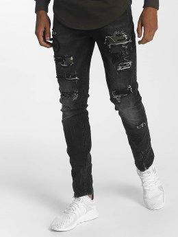 John H Straight Fit Jeans Star Destroyed schwarz