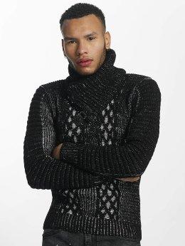 John H Sweat & Pull Knit noir