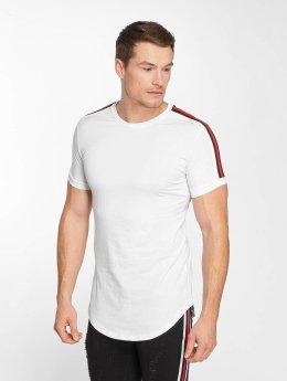 John H T-Shirt Stripe blanc