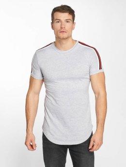 John H T-Shirt Stripe grau