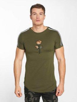 John H T-Shirt Bande green