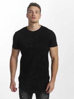John H t-shirt Ripped zwart