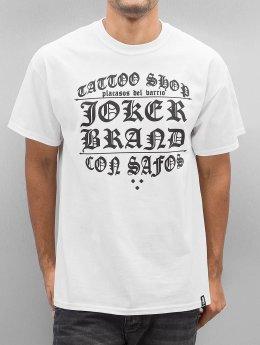 Joker T-paidat Tattoo Shop valkoinen