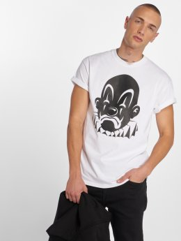 Joker T-shirts Basic Clown hvid