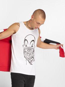 Joker Tank Tops Clown Brand valkoinen