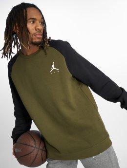 Jordan Пуловер Jumpman Fleece оливковый
