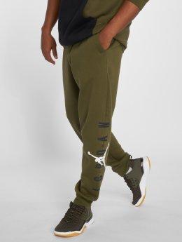 Jordan Спортивные брюки Jumpman Air Graphic Fleece оливковый