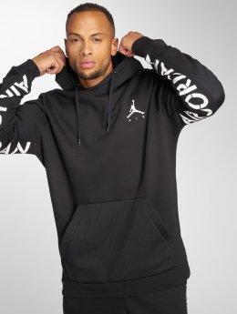 Jordan Bluzy z kapturem Sportswear Jumpman Hybrid Fleece czarny