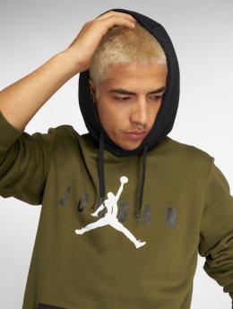 Jordan Bluzy z kapturem Sportswear Jumpman Air Fleece oliwkowy