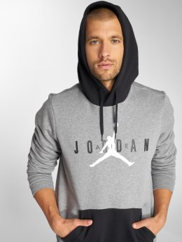 Jordan Bluzy z kapturem Sportswear Jumpman Air Fleece szary
