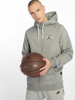 Jordan Hoodies con zip Jumpman Air grigio