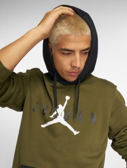 Jordan Mikiny Sportswear Jumpman Air Fleece olivová