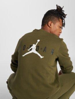 Jordan Pulóvre Jumpman Air Graphic Fleece olivová