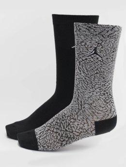 Jordan Socken 2-Pack Elephant Crew grau