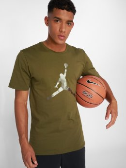 Jordan Tričká Sportswear Iconic Jumpman olivová