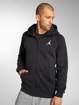 Jordan Zip Hoodie Sportswear Jumpman Fleece čern