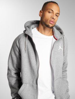Jordan Zip Hoodie Sportswear Jumpman Fleece gray