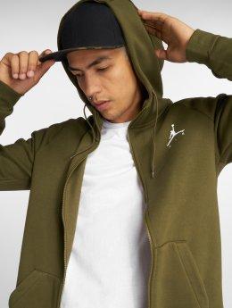 Jordan Zip Hoodie Sportswear Jumpman Fleece Full- oliwkowy