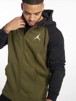 Jordan Zip Hoodie Sportswear Jumpman Fleece oliwkowy
