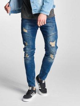 Just Rhyse dżinsy przylegające Holbox  niebieski