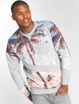 Just Rhyse Pullover Palms grau