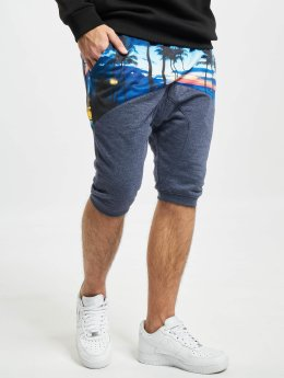 Just Rhyse shorts Palms blauw