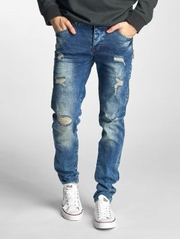 Just Rhyse Straight Fit Jeans Destroyed modrý