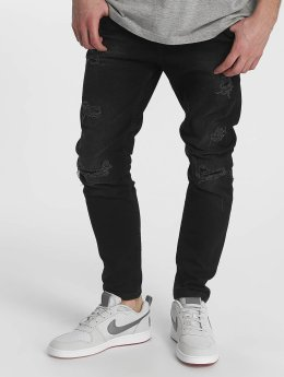 Just Rhyse Straight Fit Jeans Destroyed sort
