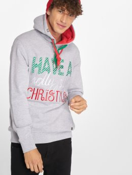 Just Rhyse Sweat capuche Christmas gris