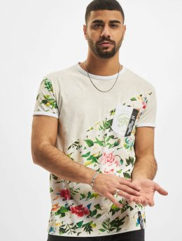 Just Rhyse t-shirt Flower grijs