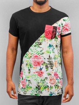 Just Rhyse T-Shirty Flower 02 czarny