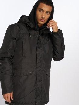 Just Rhyse winterjas comfort zwart