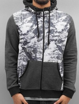 Just Rhyse Zip Hoodie Mountains grau