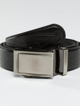Kaiser Jewelry riem Leather Belt zwart